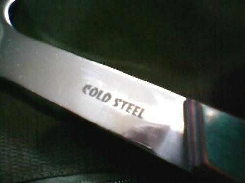 cuchillo hacha cold steel alta gama c/funda no hago envios
