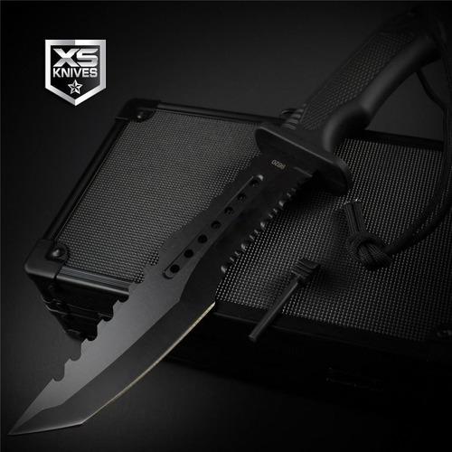 cuchillo hx tactical tanto funda rigida tactico negro pedern