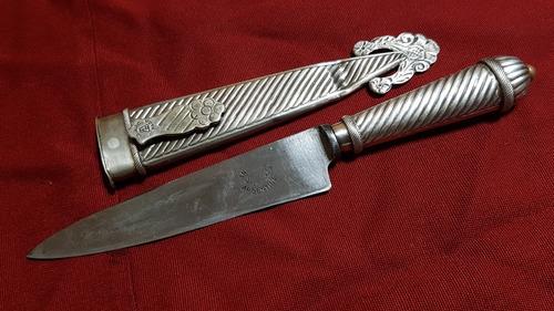 cuchillo juca en alpaca con vaina