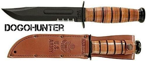 cuchillo ka-bar us army 1219 ejercito combate funda de cuero