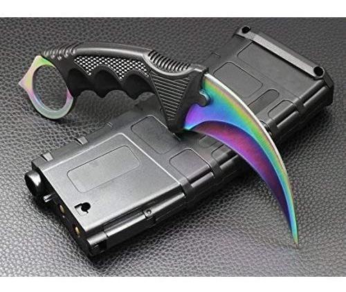 cuchillo karambit cuchillo táctico de hoja fija de acero...