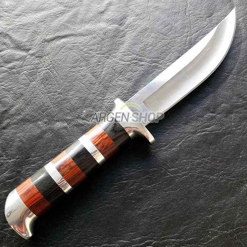 cuchillo mango de madera supervivencia funda caza pesca camp