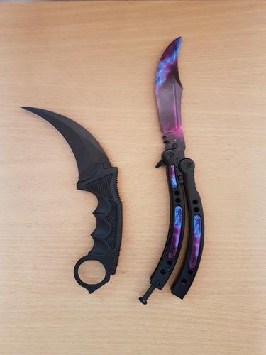 cuchillo mariposa + karambit pack cs go coleccionable