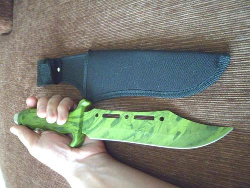 cuchillo militar de supervivencia de una sola pieza