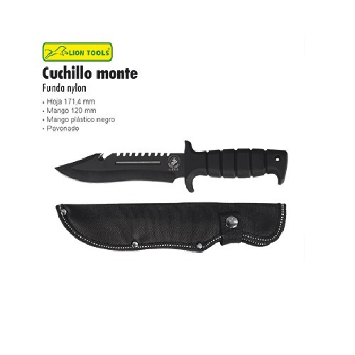 cuchillo militar táctico pavón negro 8543
