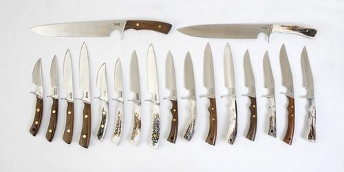 cuchillo mission para asado. acero inox vaina cuero