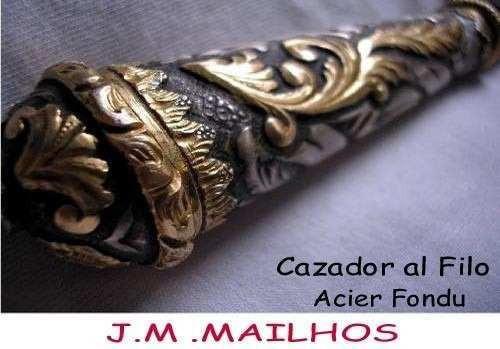 cuchillo muy antiguo mailhos plateria criolla oro plata