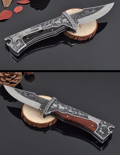 cuchillo navaja columbia a3189 grabado