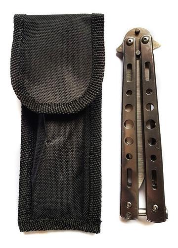cuchillo navaja mariposa dragoon steel con forro balisong