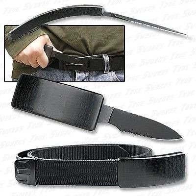 cuchillo oculto en cinturon reata tactico airsoft defensa