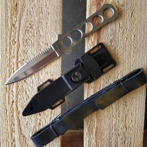 cuchillo para buceo con funda y 2 correas daga navaja md-1bd