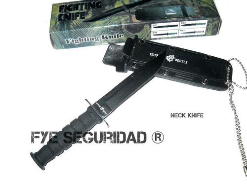 cuchillo para colgar neck knife extreme beetle r21