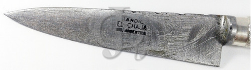 cuchillo plata y oro martin fierro hoja 14cm premiun
