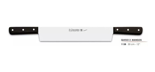 cuchillo queso 2 cabos 30 cm uniblock 3 claveles (1138)pp