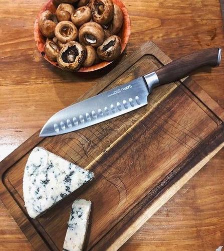 cuchillo santoku chef profesional 31cm oferta dia del padre