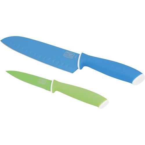 cuchillo santoku/parer de 2 pedazos vivos de cubertería