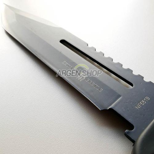 cuchillo táctico brújula punta tanto funda pasacinto extreme
