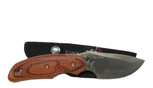 cuchillo tactico buck madera caza pesca funda envio en 24hs
