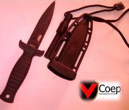 cuchillo táctico con cuerda de supervivencia