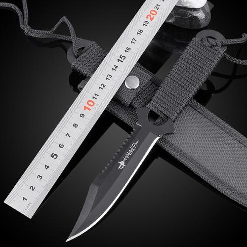 cuchillo tactico haller p/ chaleco pierna botero funda