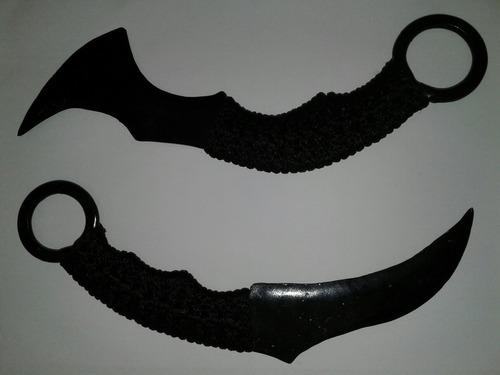 cuchillo táctico kerambit de acero forjado