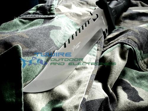 cuchillo tactico militar  plata mod 0886   funda negra