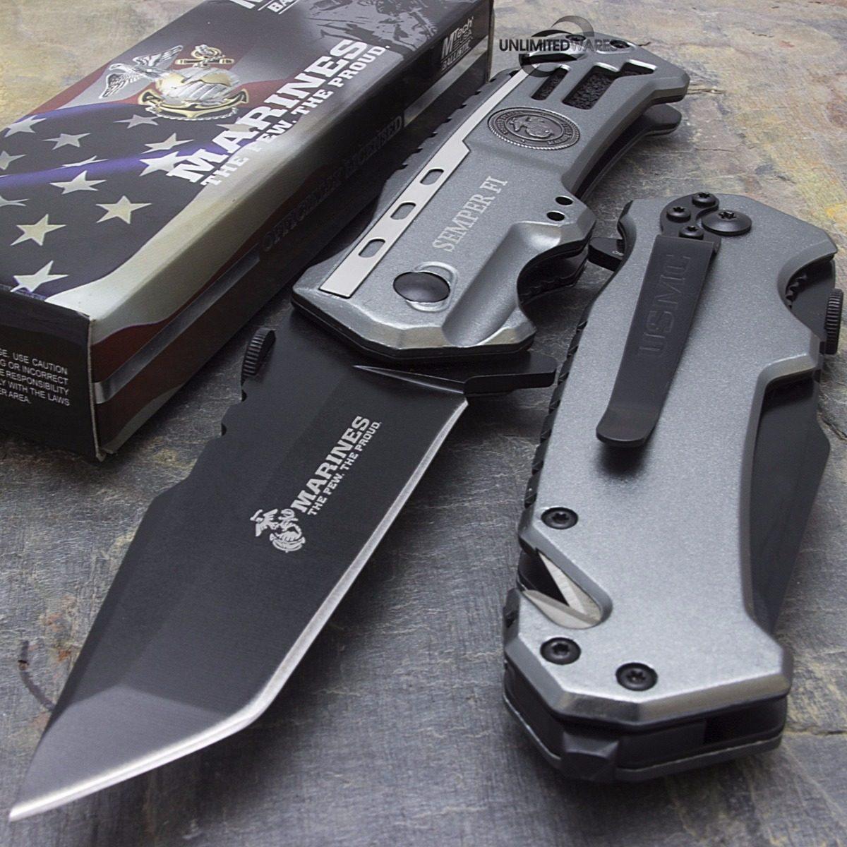 Cuchillo t ctico mtech usa marines navaja usmc regalo a1 for Clases de cuchillos de mesa