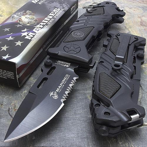 cuchillo táctico mtech usmc navaja iron mike black caza pesc