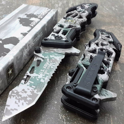 cuchillo táctico tac-force us army navaja tanto nueva unico!