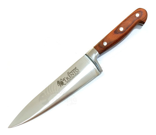 cuchillo trento gourmet 15cm encabado madera asador cocina