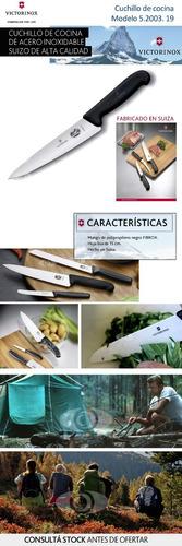 cuchillo victorinox acero suizo inox 19cm chef belgrano