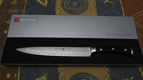 cuchillo wusthof ikon blackwood forjado aleman professional
