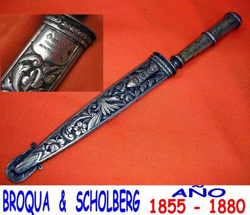 cuchillo y vaina broqua scholberg plateria criolla