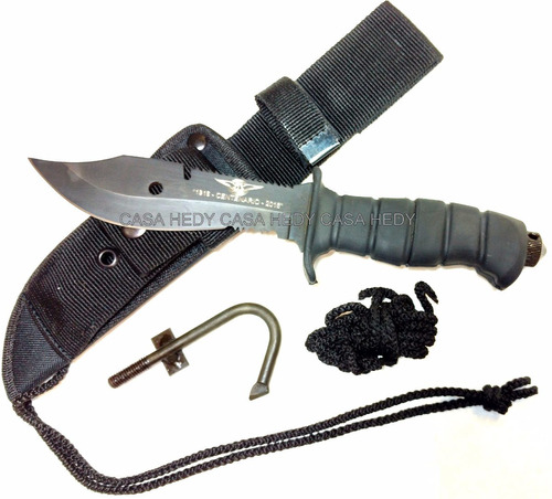 cuchillo yarara aviador naval carbono sae6150 serrucho funda