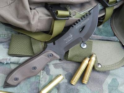 cuchillo yarara explorador tactico militar con funda