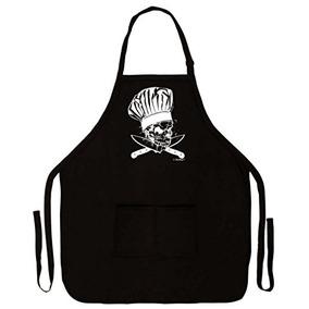 c7be5fb5c45c8 Chef Diseño De Calavera Y Huesos Cruzados Cuchillos Funny De