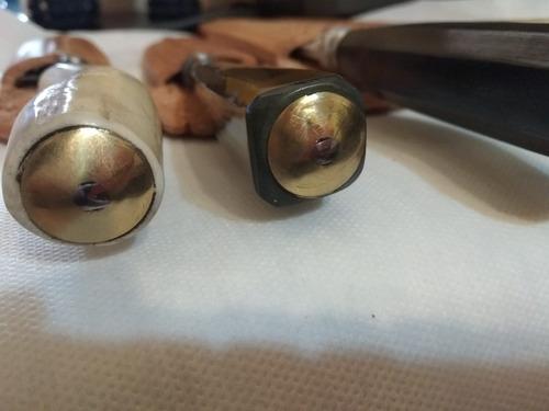 cuchillos artesanales con estuche de cuero