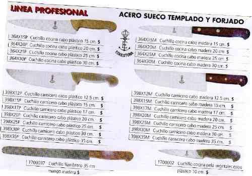 cuchillos eskiltuna de carnicero.hoja 35 cm.