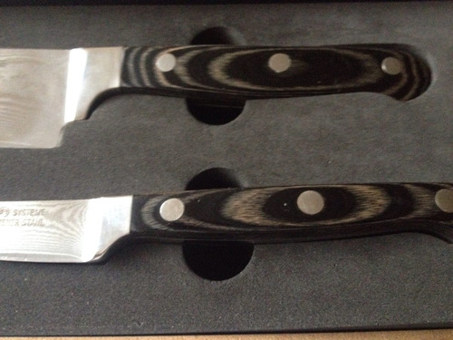 cuchillos koch systeme en acero de damasco alemán nuevos