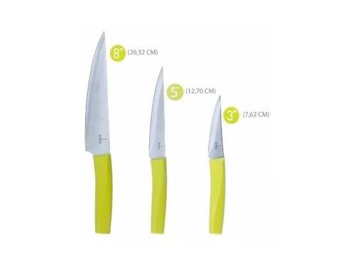cuchillos para chef multiuso fileteador puntilla juego saba