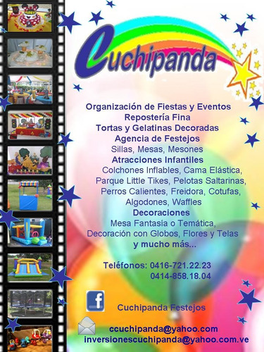 cuchipanda agencia de festejos fiestas eventos reposteria