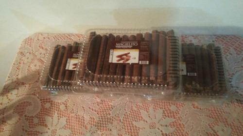 cuchuflis bañados en chocolate
