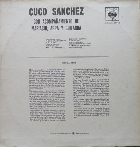cuco sanchez com  mariachi arpa e guitarra lp cbs importado