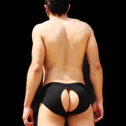 cueca all open preta aberta nas costas prus quinttus