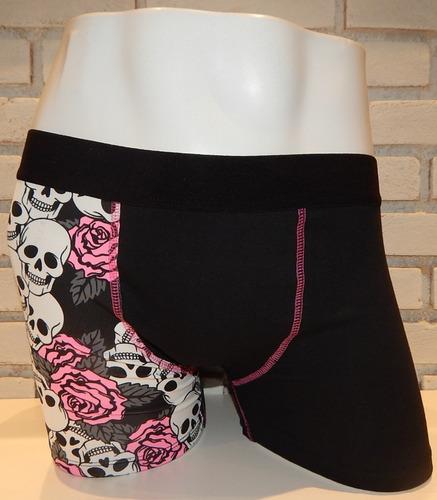 cueca boxer meddy caveiras & rosas sex shop erótic sensual