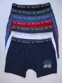 4db9cf3f360410 Cueca Boxer Microfibra - Bressan Kit Com 6 Unidades