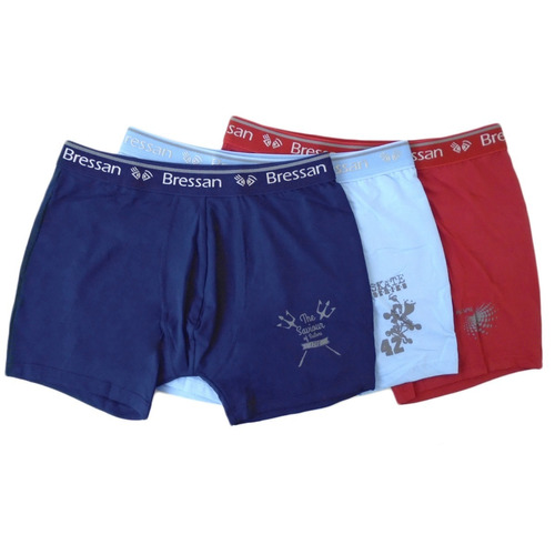 cueca boxer microfibra com forro bressan kit com 6 cuecas.