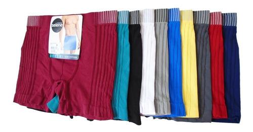 cueca boxer sem costura original selene 1º linha 10 cuecas