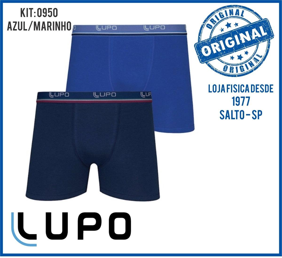 60d8be90e cueca lupo kit 8 peças boxer cotton algodão+3 meias original. Carregando  zoom.