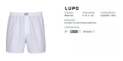 cueca samba-canção lupo 100% algodão 650-001